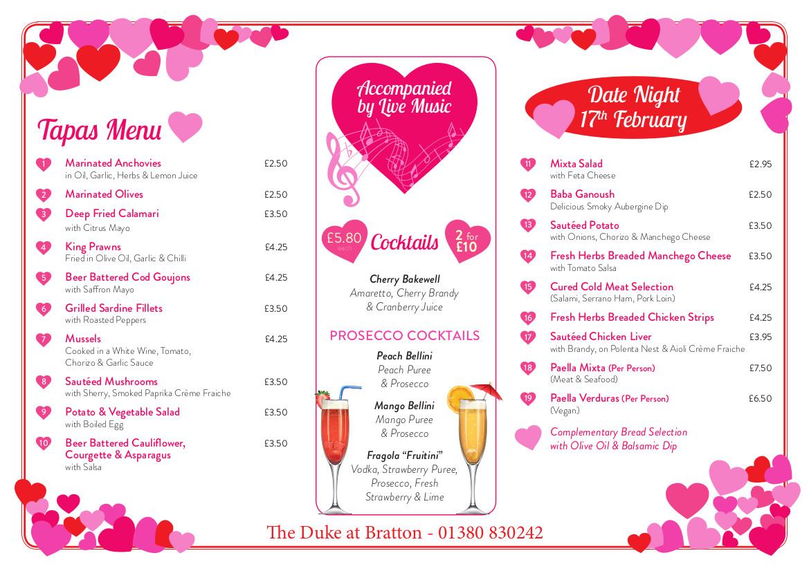 The Duke Valentines Menu FINAL